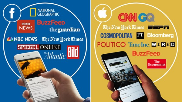 Some of the media organisations which have struck deals with Facebook and Apple to provide digital news in new formats
