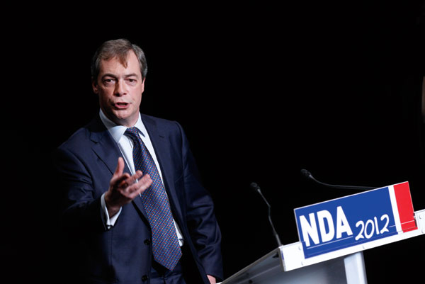 Nigel Farage speaking in France in 2012