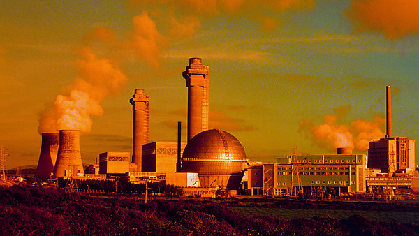 Filtered photograph of Sellafield nuclear plant, Cumbria