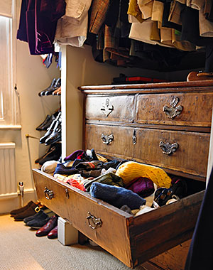 David Tang's untidy sock drawer