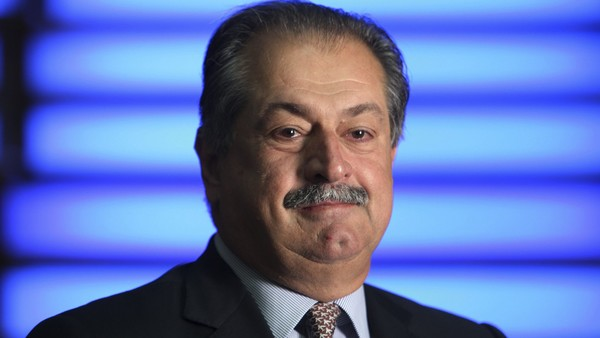 """Andrew Liveris, president and chief executive officer of Dow Chemical Co., poses for a photograph in London, U.K., on Thursday, Aug. 8, 2012. Dow Chemical Co., the biggest U.S. chemical company, reported larger-than estimated declines in second-quarter earnings and sales and said the outlook for global demand for the rest of the year is """"bleak."""" . Photographer: Chris Ratcliffe/Bloomberg *** Local Caption *** Andrew Liveris"""
