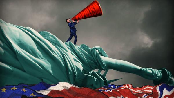 James Ferguson illustration depicting populism