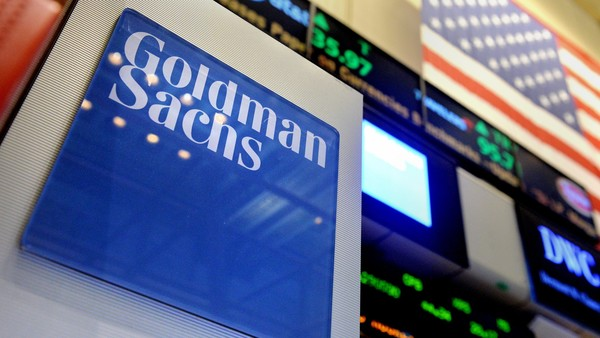 New York Stock Exchange...epa04317110 A sign of US bank Goldman Sachs on the floor of the New York Stock Exchange at the start of the trading day in New York, New York, USA, 15 July 2014. Goldman Sachs surprised Wall Street by reporting an increase in second quarter profits on 15 July, the same day the largest US bank by assets, JPMorgan Chase, said its net profits in the period were down. The quarterly results of the two banks were better than experts' predictions and traders reacted positively. The share price of each climbed in early trading on Wall Street. EPA/JUSTIN LANE