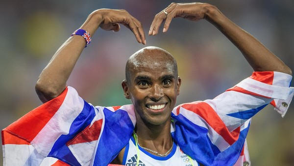 Team GB Mo Farah celebrates his second gold in Rio after winning the 5,000m.  Rio de Janeiro, Brazil on August 20, 2016. CAP/CAM ©Andre Camara/Capital Pictures