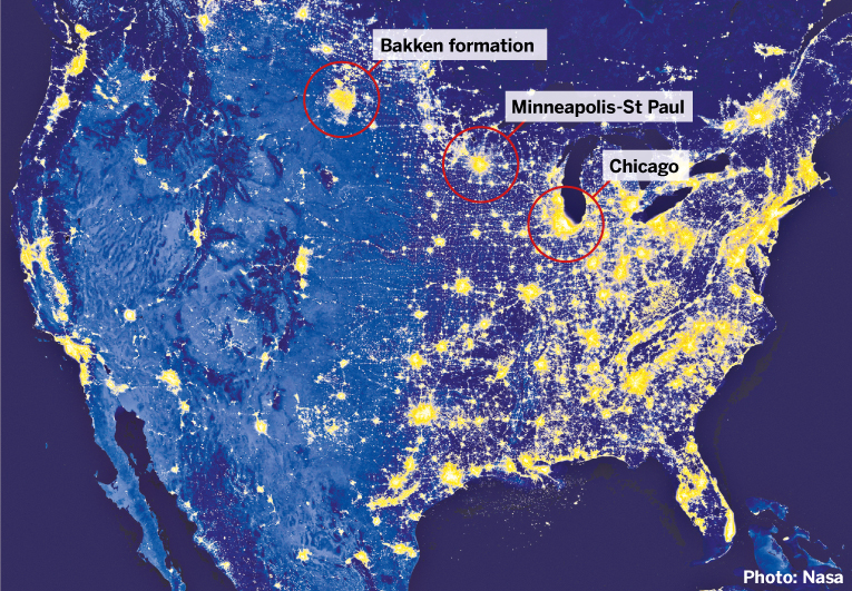 Shale gas boom now visible from space thumbnail