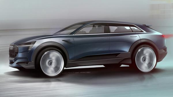 Exterior sketch of the Audi e-tron quattro
